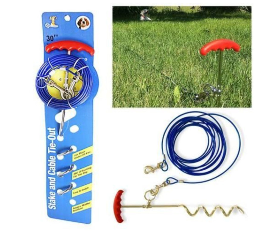 Heavy Duty Yard Leash Set for Dogs 6m