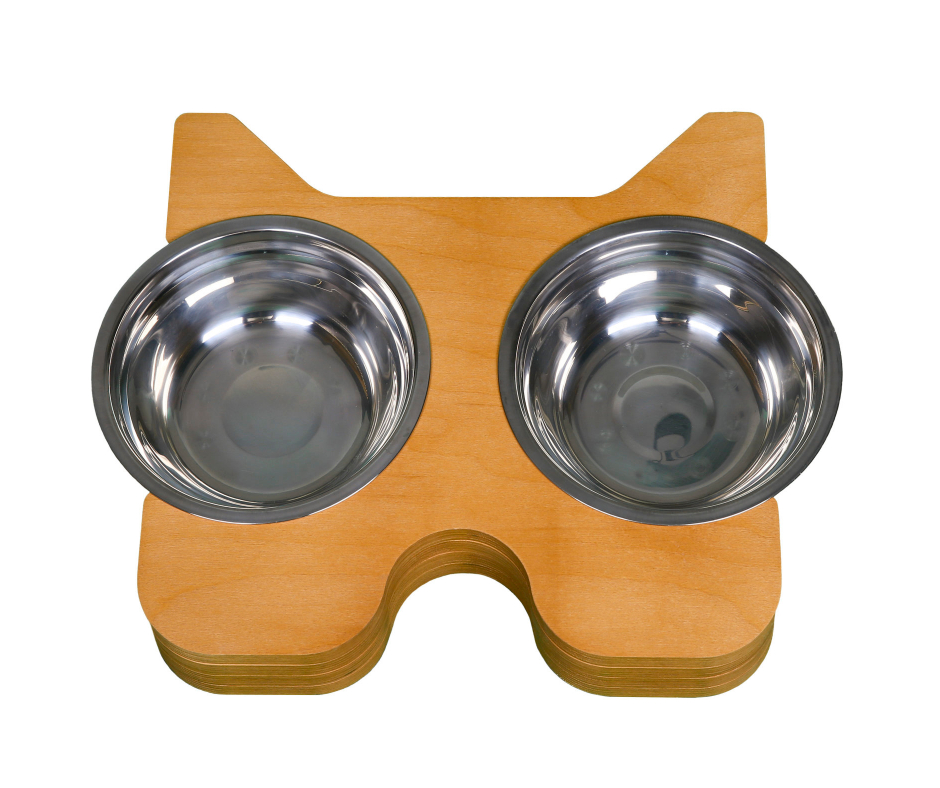 Design Pet Bowl Bulldog 18cm Light Brown