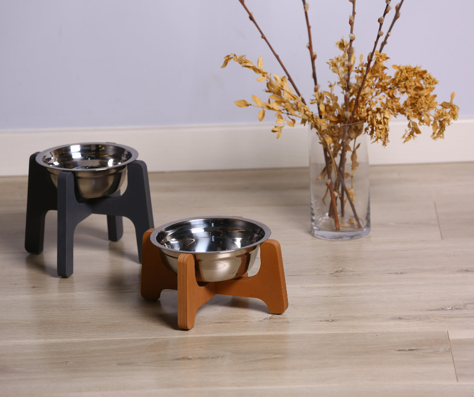 Single Modular Pet Bowl 18cm Dark Brown