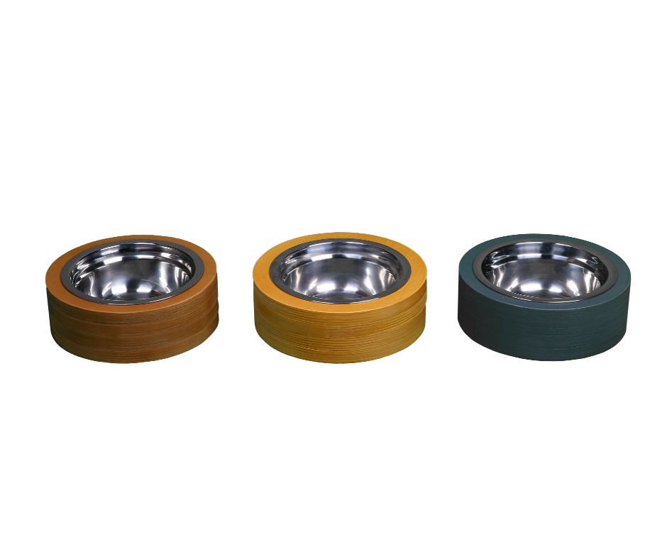 Single Round Basic Pet Bowl 14cm Light Brown