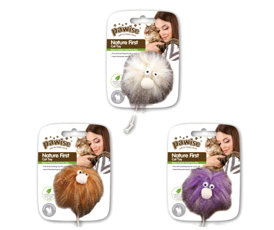 Furry Monster Cat Toy