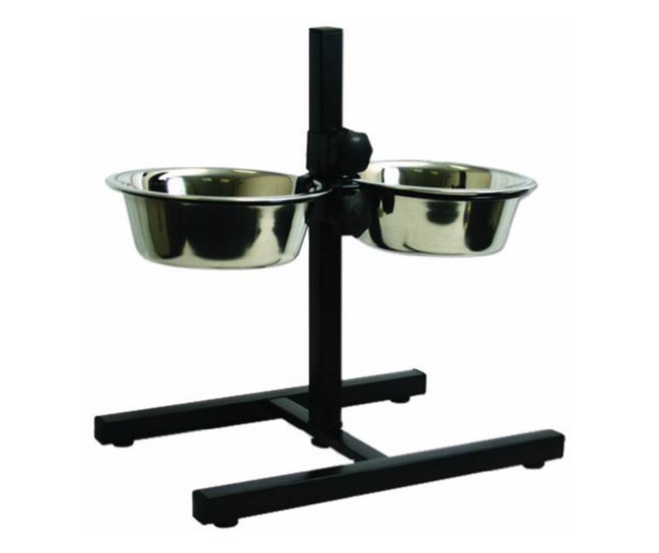 Oripet Adjustable Food & Water Bowl 2QT