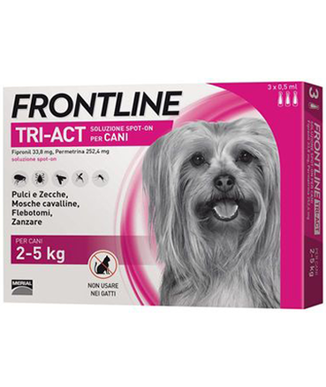 Frontline Tri-Act XS 2-5 kg for Dogs; 1