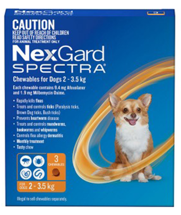 NEXGARD SPECTRA XS - For Dogs from 2 to 3.5 kg; 1