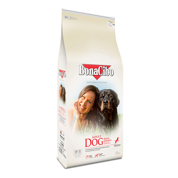 Chicken & Rice with Anchovy BonaCibo Adult Dog  High Energy 1kg