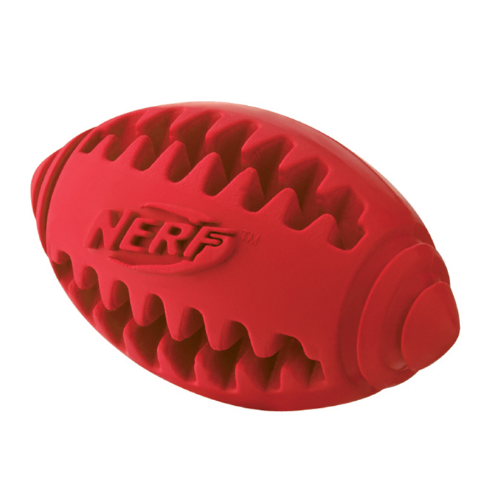 Nerf Dog Rugby Ball: NERF Rubber Rugby Ball Teeth Friendly 12.7 Cm