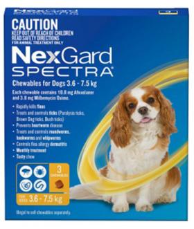 NEXGARD SPECTRA S Anti-Parasite Pills for Dogs